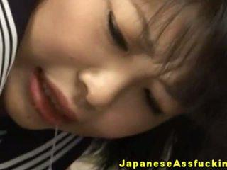 Asiatico giovanissima anale cavity toyed