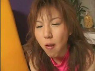 Japanese girl eating cum on food (3)