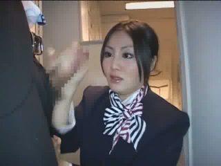 φρέσκο ιαπωνικά βαθμολογήθηκε, stewardess