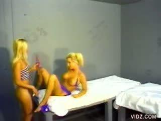 Lita and Allysin fuck inside the prisonhouse