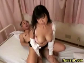 Japanese nurse gets a dirty facial Video