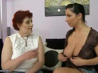 Mataba lola at malaking suso tinedyer appreciating lesbo pornograpya