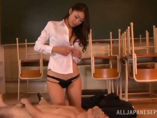 Reiko Kobayaka Makes Out Nearby Her Man And Licks His Meat Stick