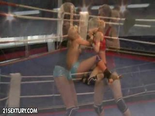 Nudefightclub presents laura crystal vs michelle moist