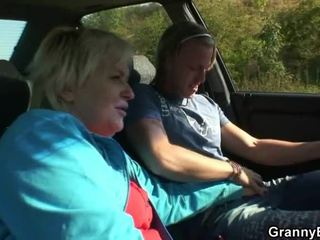Old Girl Has Pounded In The Car By A Stranger