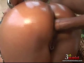 Greasy Hot Bitch LiLiane Tiger Receives Her Tight Ass Boned By A Rock Hard Cock