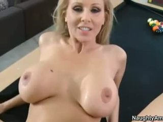 Luscious mom Julia Ann gets her pussy stabbed by a monster pole