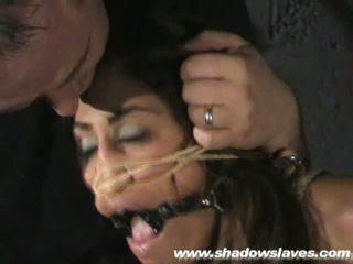 Sahara Knite humiliating face bondage and spanked