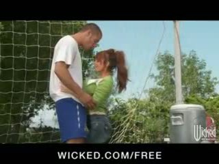 doggystyle, reverse cowgirl, redhead, outside