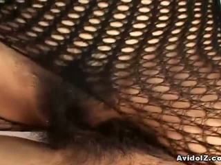 ideale giapponese bello, caldi fishnet, grande bodystocking divertimento