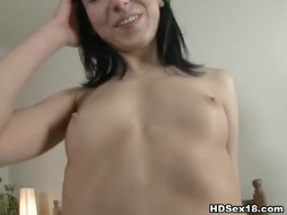 Anal creampie for skinny brunette anna