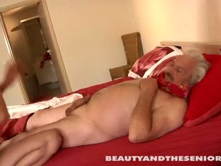 Beauty and the Senior: Petite beauty getting fucked by dirty old man