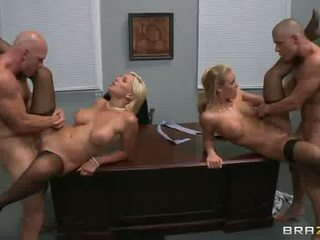 quality girl on girl, office, facial