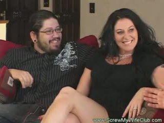 Slutty متزوج امرأة rides كوك pov