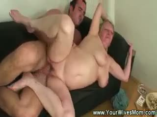 Mother In Law Sucks And Gets Cummed On