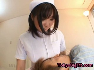Huge Busted Nipponese Babe Bumped