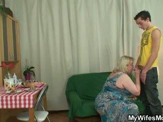Horny oldie seduces son in law