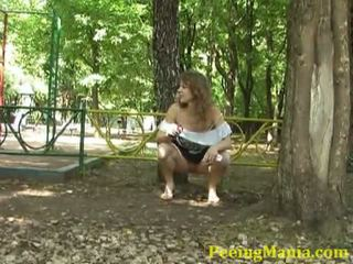 Awesome Teen Peeing Inside The Garden Without A Stitch On Inside Public