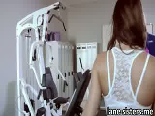 shaft starved Shana Lane works out with the help of three shafts