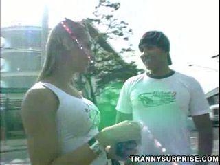 Tranny Hooker Gets Creamed!