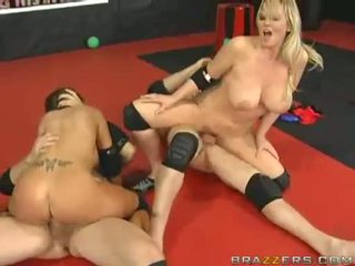 Busty Women Abbey Brooks And Ally Riding And Humping On Massive Meatpoles