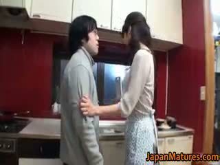 brünett, jaapani, group sex, suur rind