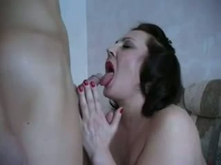 Mature Woman takes young Cock