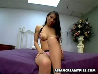 oriental asian Lucy teases and gets her wet pussylicked