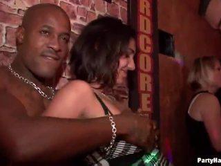 public sex, party girls, club