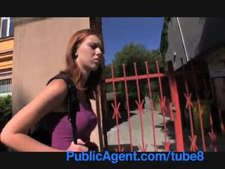 PublicAgent Ginger teen virgin gets fucked in the ass hole