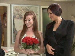 cute, white, bride, redhead