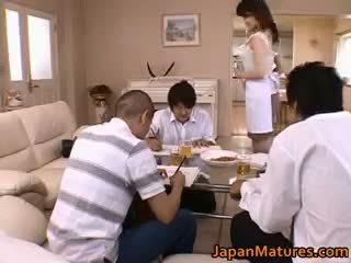 brunetta, giapponese reale, reale sesso di gruppo grande