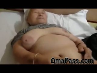 Very old lemak japanes mbah kurang ajar so hard with one man video