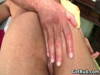 Lucky Guy Acquires His Subrigid Jizzster Gay Massaged 4 By Gotrub