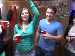 Hot college party with very drunk students