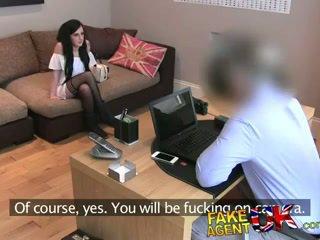 FakeAgentUK Tight ass emo teen pops her anal cherry