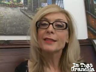 Sweety Blonde Granny In Glasses Nina Hartley Talking Dirty