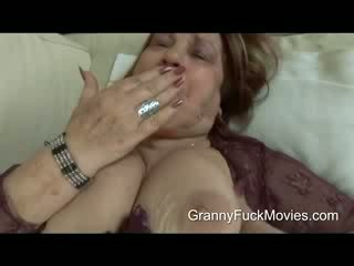 This is one fat and horny granny who wants some action