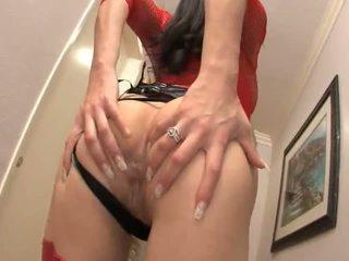 Jayla starr shows μακριά από αυτήν πολύ σέξι κόκκινος εσώρουχα