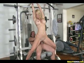 Ingrid Does Some Squats On The Hunter's Penis.