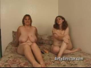 Bella e grassa (bbw) lesbiche anale gaping e scopata