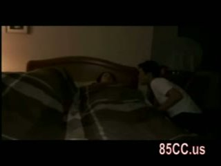 Wife fucked by husbands friend on the bed 01