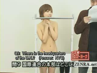 Subtitled jaapani quiz show koos nudist jaapan õpilane