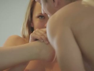HD storyline babe pleases him with her feet