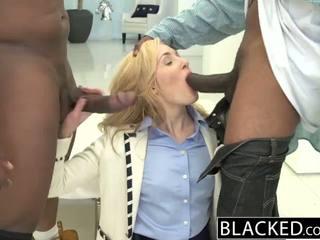 Blacked 2 বিশাল কালো dicks জন্য ধনী সাদা বালিকা