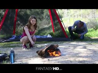 Adorable alice march in outdoor fuck