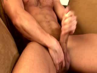 Gay muscle hunk zakar/batang tugging