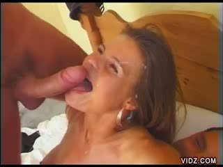 Two huge cocks bangs tight orifices