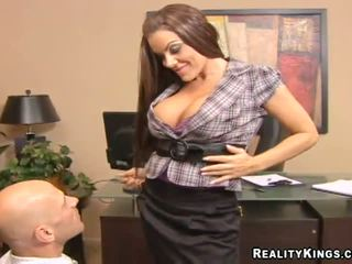 My beautiful big tit boss Victoria Valentino fuck