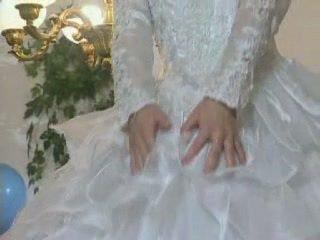 金發 歐洲的 新娘 gets licked 和 屁股 性交